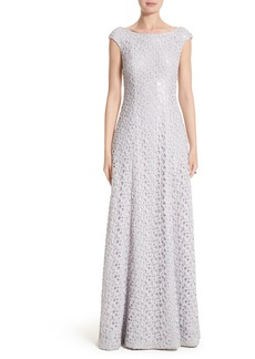 St. John Evening Gita Guipure Lace Gown