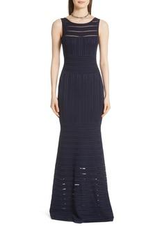 St. John Evening Gossamer Illusion Knit Gown