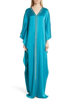 St. John Evening Liquid Crepe Kaftan Gown