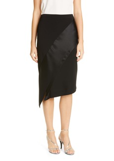 St. John Evening Luxury Viscose Asymmetrical Skirt