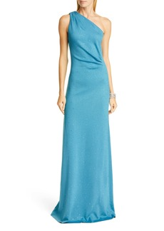 St. John Evening One-Shoulder Milano Knit Gown