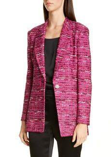 St. John Evening Opulent Textured Tweed Jacket