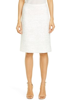 St. John Evening Ribbon Couture Float Knit Skirt