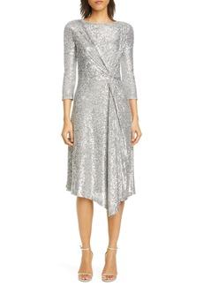 St. John Evening Starlight Sequin Mesh Dress
