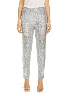St. John Evening Starlight Sequin Mesh Pants