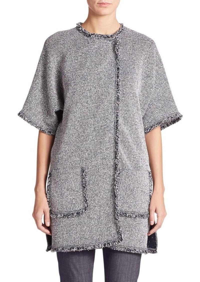 St. John Eyelash-Fringed Knit Jacket