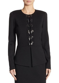 St. John Faux Lace-Up Jacket