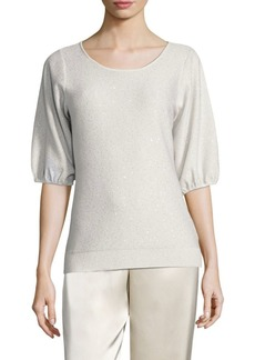 St. John Fine Gauge Knit Sequin Sweater
