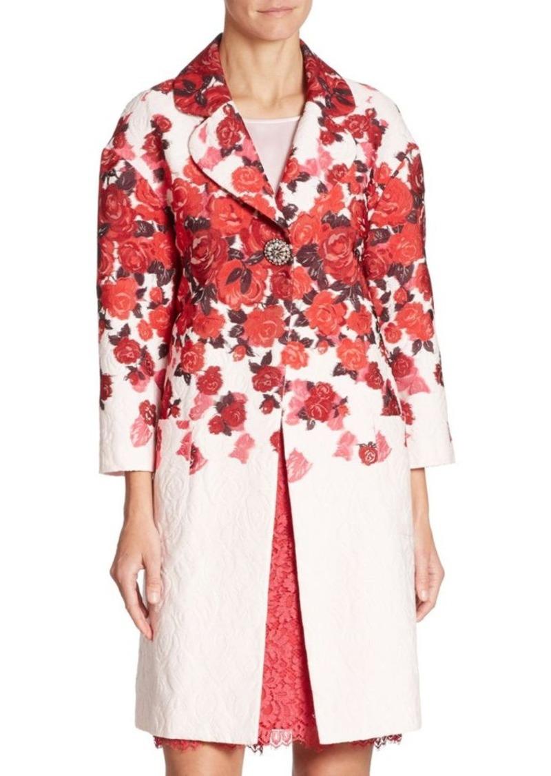 St. John Floral Jacquard Jacket