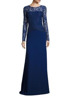 St. John Floral Lace Gown