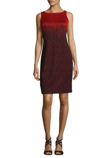 St. John Gradiant Print Sheath Dress