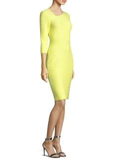 St. John Hannah Knit Asymmetric Dress