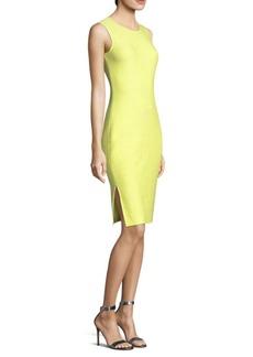 St. John Hannah Knit Jewel-Neck Dress