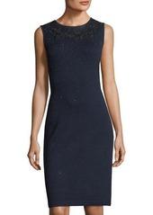 St. John Jewel-Neck Santana-Knit Dress