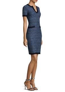 St. John Knit V-Neck Dress