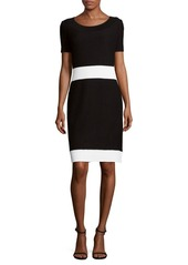 St. John Knitted Sheath Dress