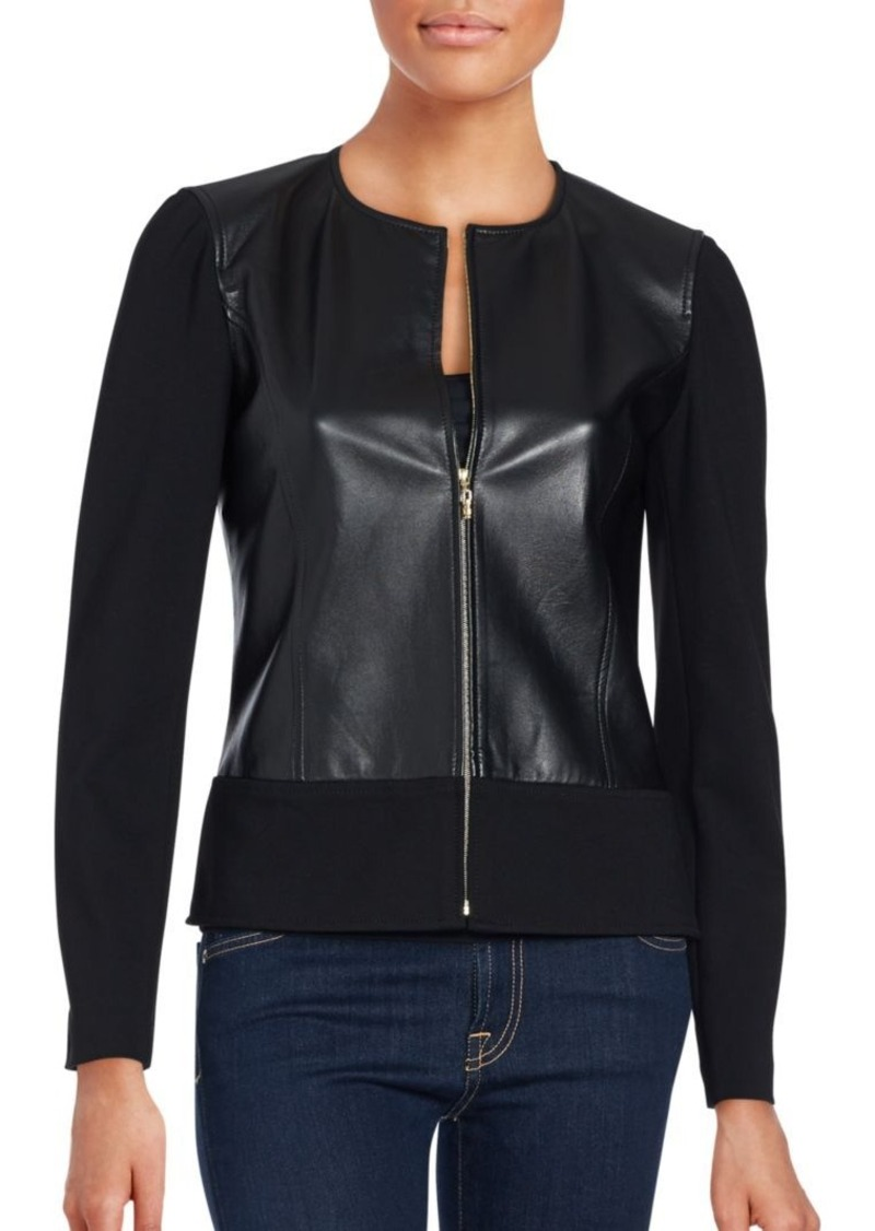 St. John Lamb Leather Jacket