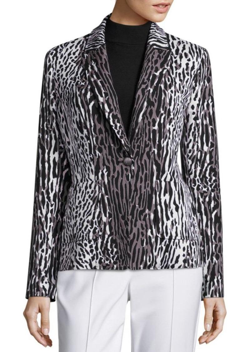 St. John Leopard Printed Jacket