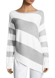 St. John Links Texture Stripe Knit Sweater
