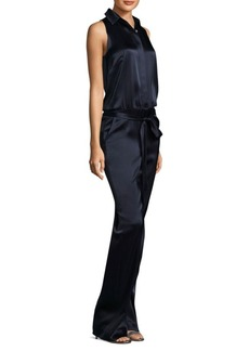 St. John Liquid Satin Jumpsuit