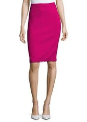 St. John Loop-Trim Pencil Skirt