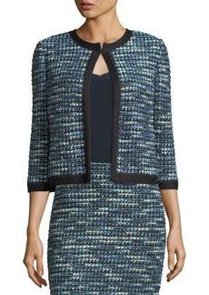 St. John Martinique 3/4-Sleeve Tweed Jacket