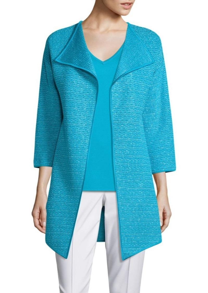 St. John Metallic Knit Jacket