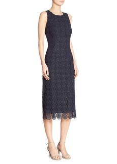 St. John Metallic Lace Dress