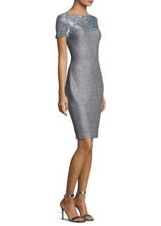 St. John Metallic Sequin Dress