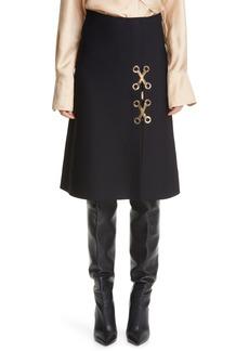 ST. JOHN Milano Knit A-Line Skirt