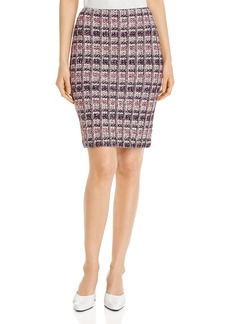 St. John Monarch Textured Tweed Knit Skirt