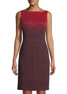 St. John Ombre Wool-Knit Dress