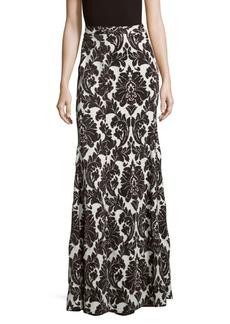 St. John Printed Banded-Waist Skirt