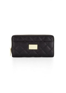 St. John Collection Quilted Leather Continental Wallet