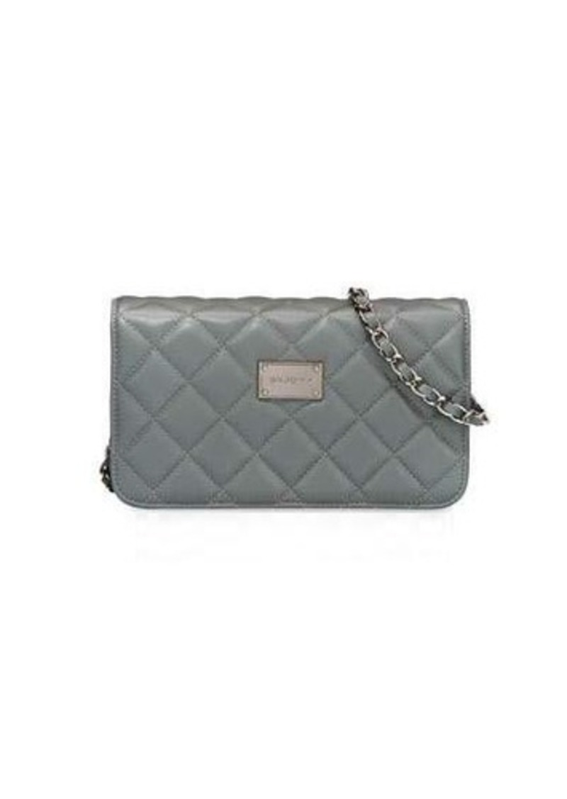 St John Collection Quilted Leather Crossbody Bag Handbags