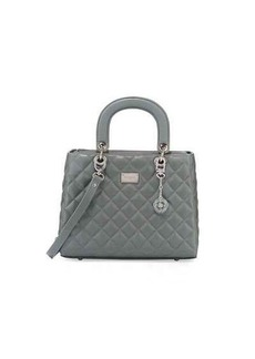 St. John Collection Quilted Leather Satchel Bag