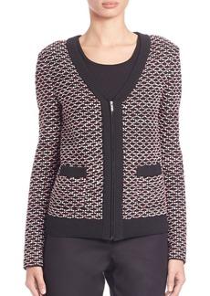 St. John Rib-Trimmed Knit Jacket