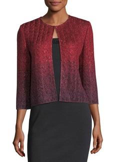 St. John Riviera Knit 3/4-Sleeve Short Jacket