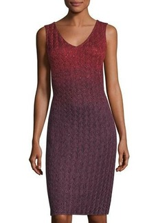 St. John Riviera Knit V-Neck Dress