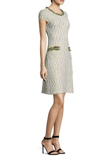 St. John Romee Tweed Knit Shift Dress