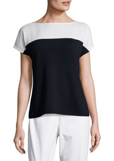 St. John Santana Color Blocked Top