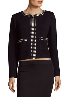 St. John Santana Embellished Knitted Jacket