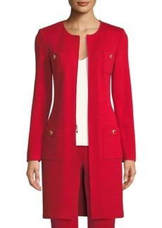 St. John Santana-Knit Jewel-Neck Topper Jacket