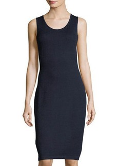 St. John Santana Knit Sleeveless Fitted Dress