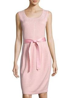St. John Santana-Knit Sparkle Dress