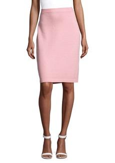 St. John Santana Wool-Blend Knit Skirt