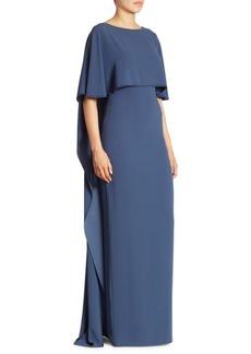 Satin Cape Gown