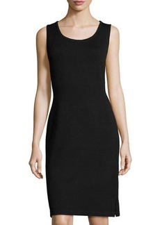 St. John Scoop-Neck Knit Tank Dress