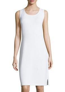 St. John Scoop-Neck Knit Tank Dress