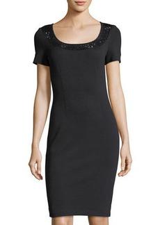 St. John Scoop-Neck Milano Knit Dress